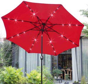 Sunnyglade 9 Patio Umbrella Lighted